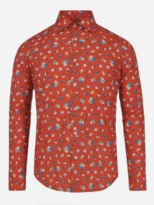 Camisa Casual Floral Roja 38 Edition