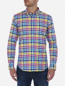 Camisa Casual de cuadros Vichy Multicolor