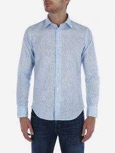 Camisa a Rayas Lino Melange