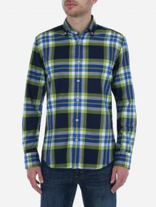 Camisa Casual Tartan Neon