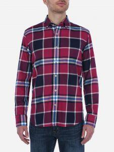 Camisa Casual Tartan Rosa