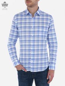 Camisa de Cuadros Tartan Azul Thomas Mason by Scappino