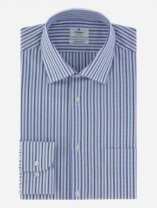 Camisa de Vestir de Rayas en 2 Tonos