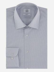 Camisa de Vestir Microprint