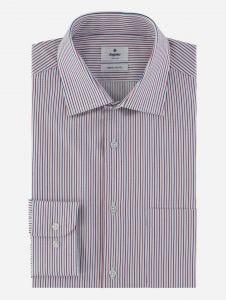 Camisa de Vestir a Rayas Duotono