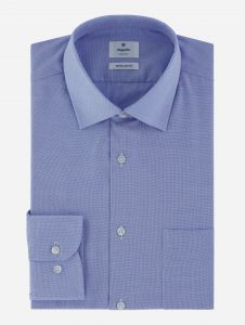 Camisa Azul en Maquinilla