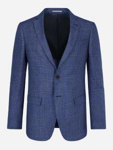Saco Estructurado Lino Azul