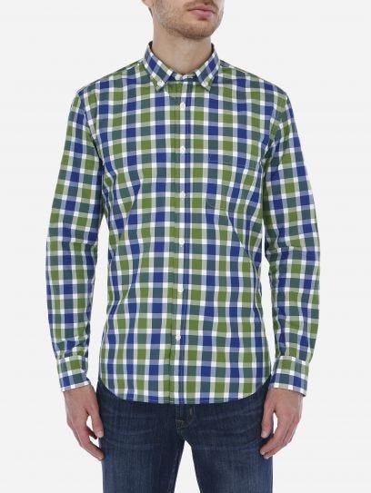 Camisa Casual a Cuadros Verde