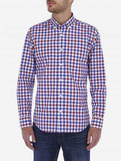 Camisa Casual de Cuadros Bicolor