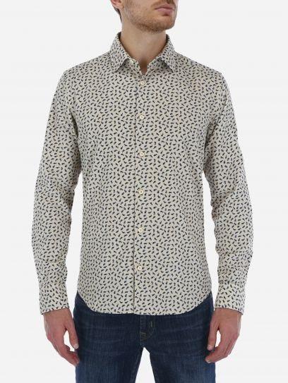Camisa Casual de Pana Estampada