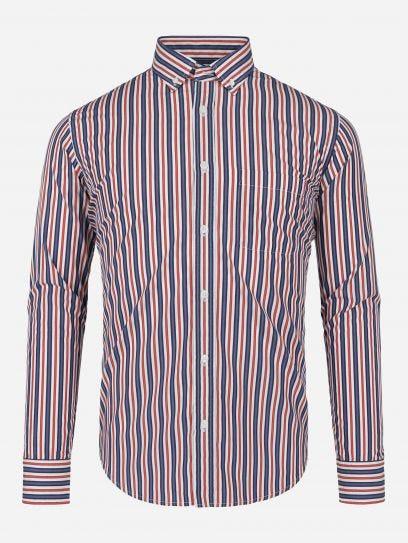 Camisa Casual de Rayas en Sombra