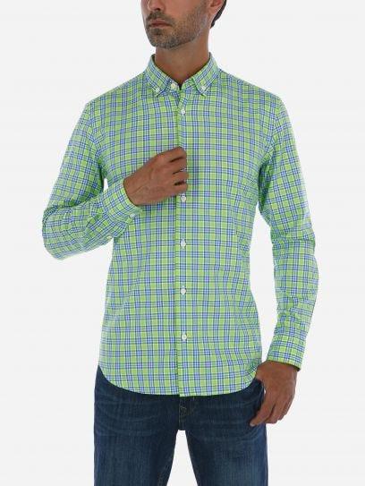 Camisa a Cuadros Verde