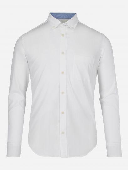 Camisa Casual Blanco Algodon