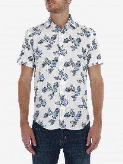 Camisa Casual Hojas Tropicales