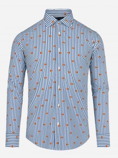 Camisa Casual Naranajas y Rayas