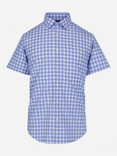 Camisa Lino Melange Manga Corta