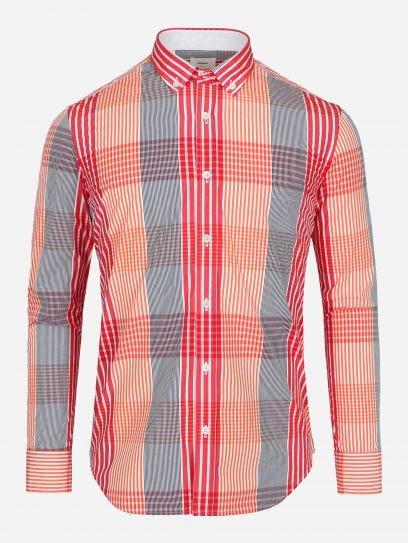 Camisa de Multicuadros Roja