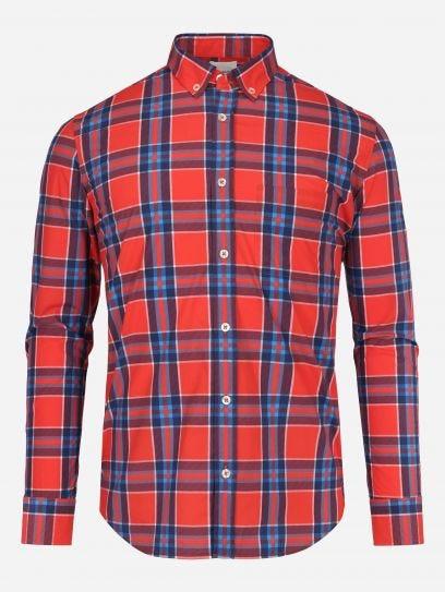 Camisa Casual Tartan Rojo Brillante