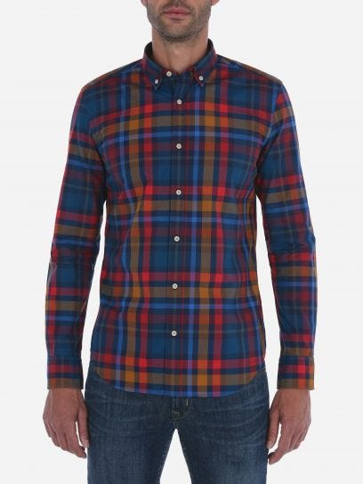 Camisa Multicuadros Oxford