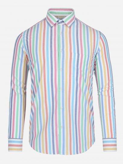 Camisa de Rayas Multicolor  BLANCO EEG