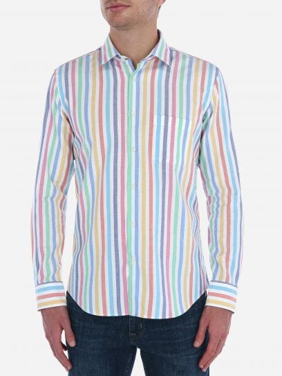 Multicolored Candy Stripes Shirt