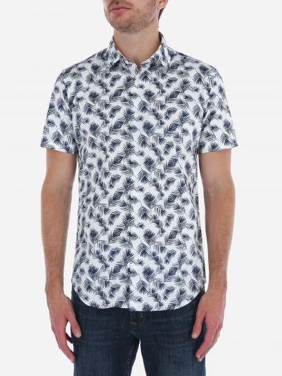Camisa Tropical de Manga Corta