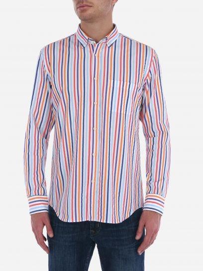 Camisa de Rayas Seersucker