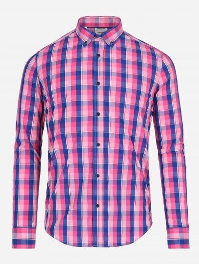 Camisa de Multicuadros Rosa  ROSA CH