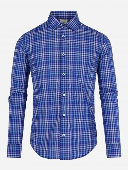 Camisa de Multicuadros Azul