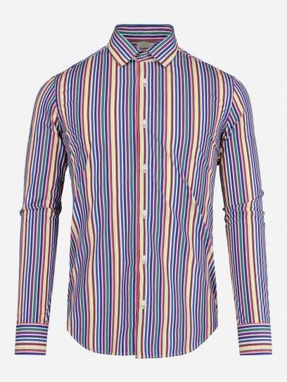 Camisa Casual de Multirayas