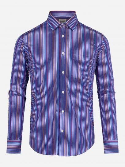 Camisa Casual de Rayas Multicolor