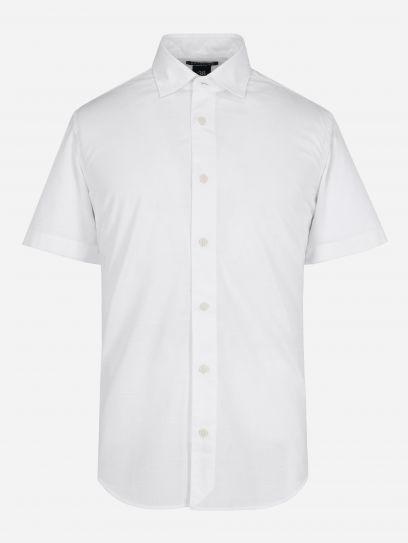Camisa Slub de Manga Corta