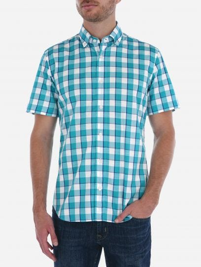 Camisa Slub de Cuadros