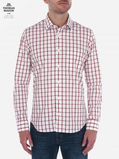 Camisa de Ventanas Roja Thomas Mason by Scappino