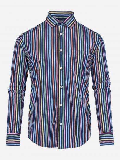 Camisa de Rayas en Sombra Thomas Mason by Scappino