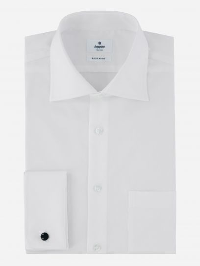 Camisa de Vestir Blanca Basica