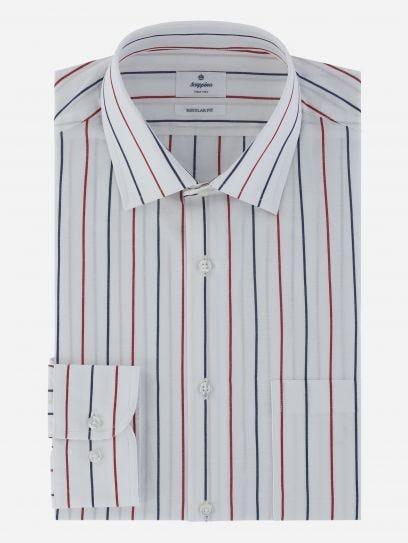 Camisa Algodon Lino a Rayas