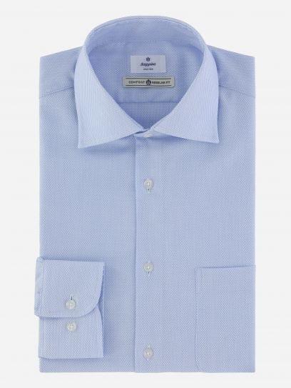 Camisa de Vestir Dobby Azul