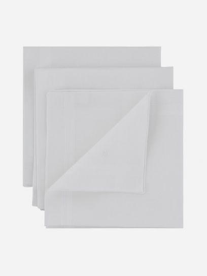 Set 3 Panuelos Blancos
